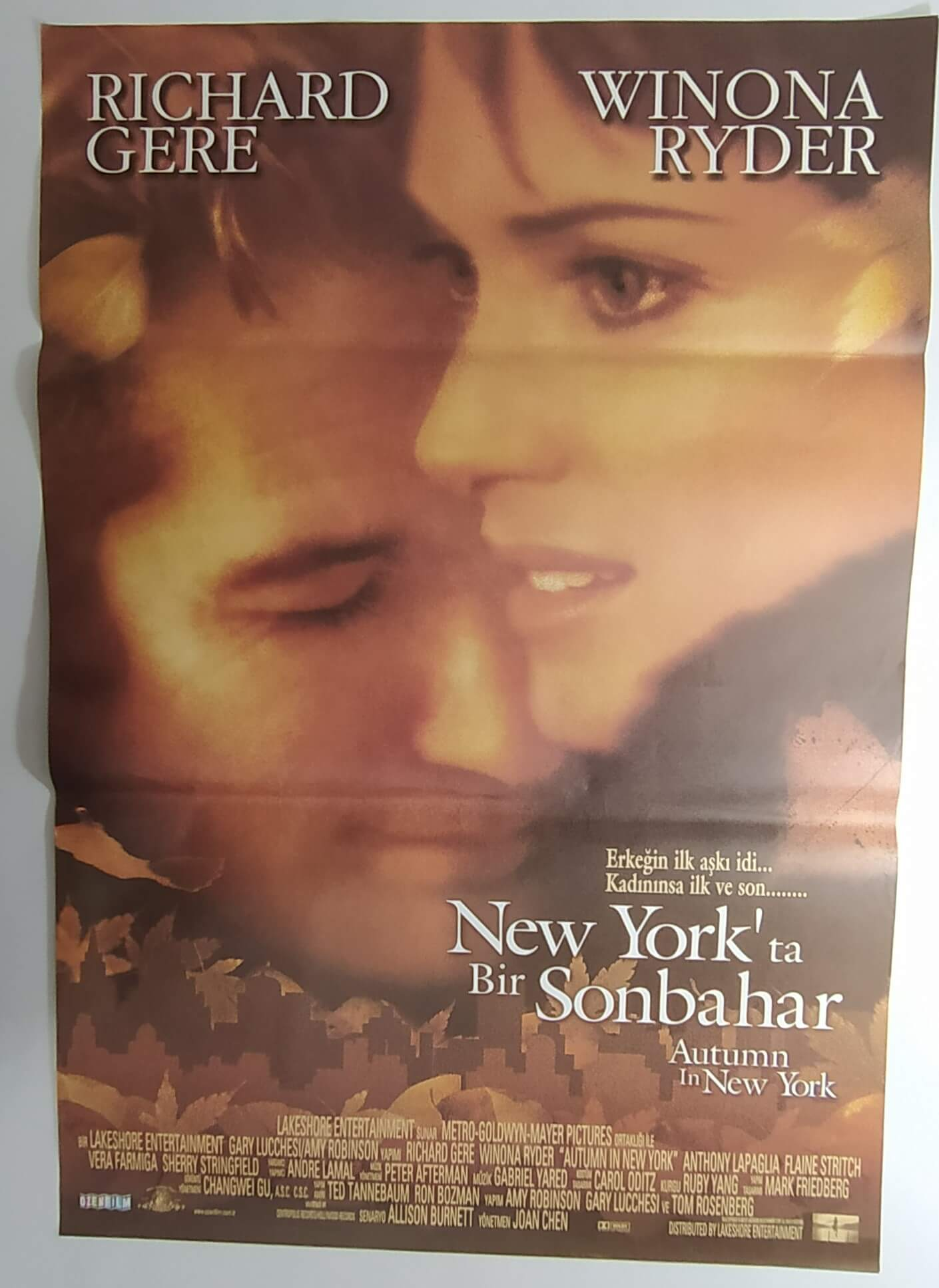 AUTUMN IN NEW YORK movie poster